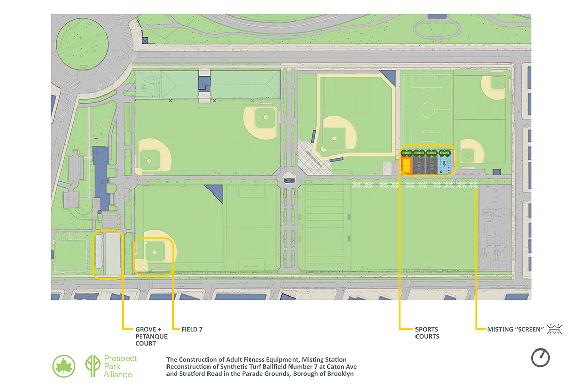 Design of Parade Ground Ballfield 7 Reconstruction and Adult Fitness Construction