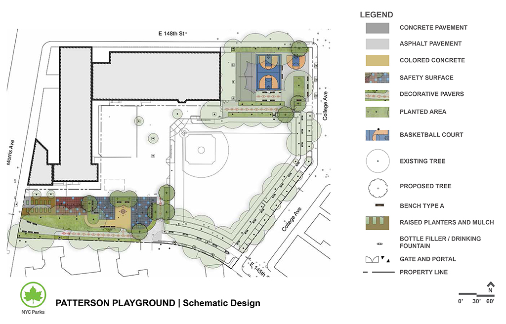 Design of Patterson Playground Reconstruction