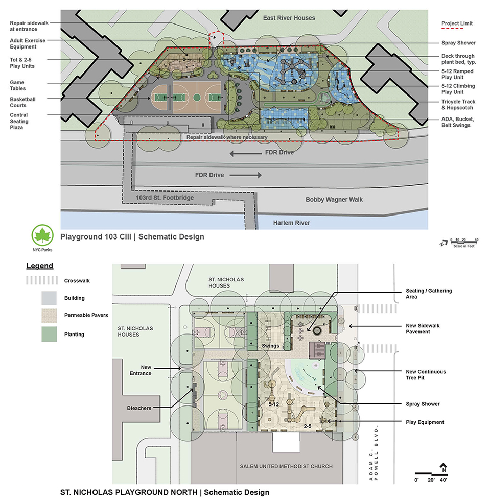 Design of Playground 103 and St Nicholas North Playground Reconstruction