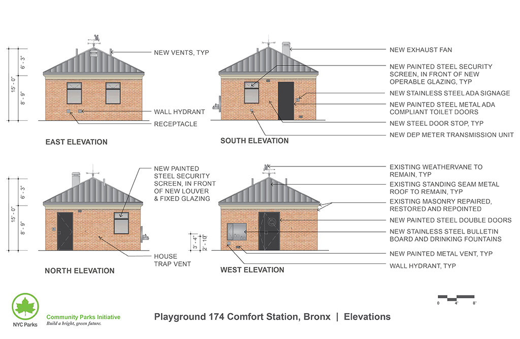 Design of Playground 174 Comfort Station Reconstruction