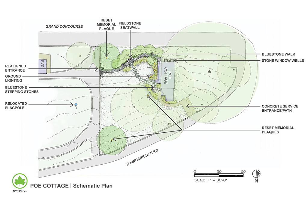 Design of Poe Cottage Landscape and Accessible Path Reconstruction