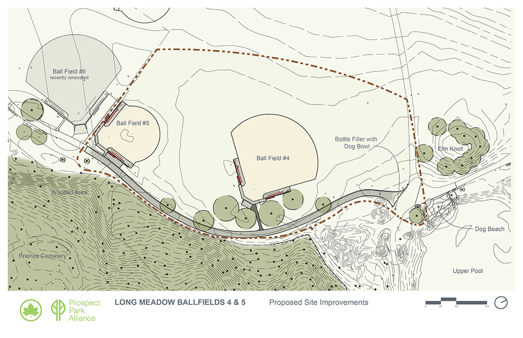 Design of Prospect Park Long Meadow Ballfields 4 and 5 Reconstruction