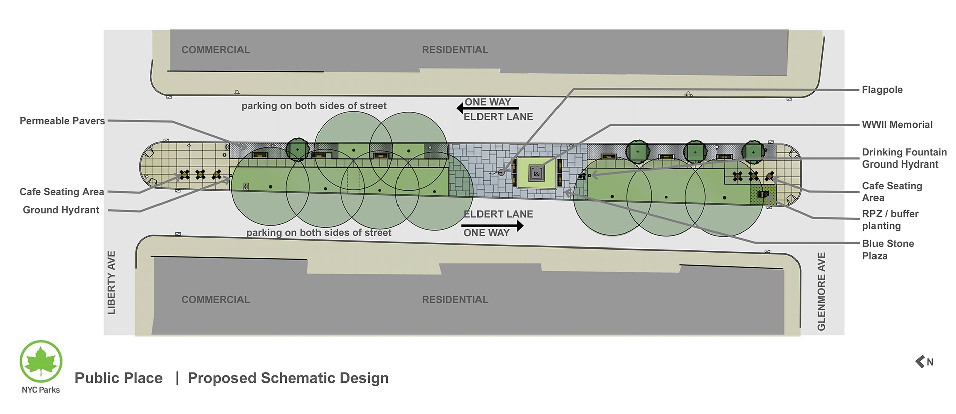 Design of Public Place Mall Paving Reconstruction