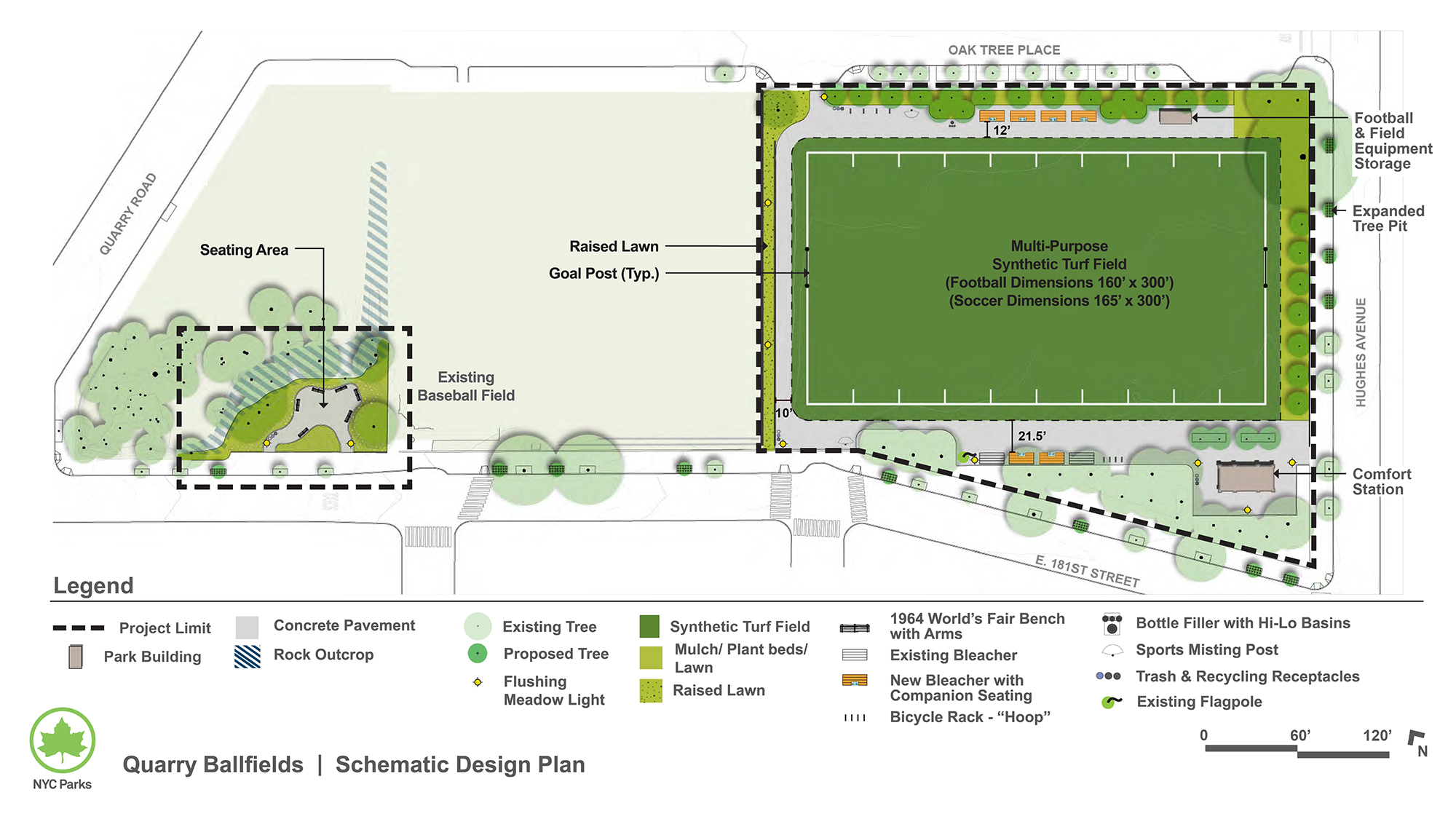 Design of Quarry Ballfields Synthetic Turf Field Construction