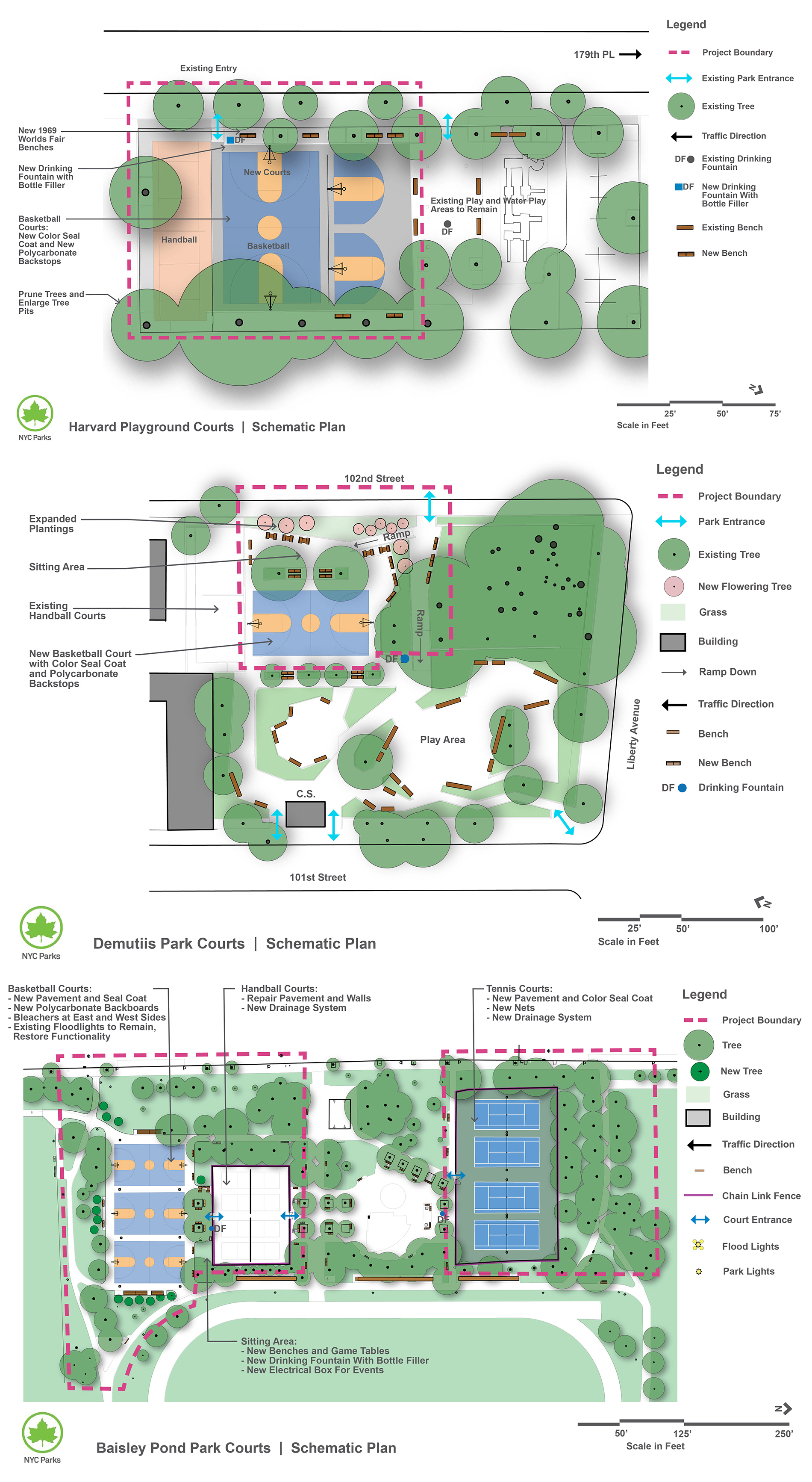 Design of Queens Athletic Courts Reconstruction (QG-216M)