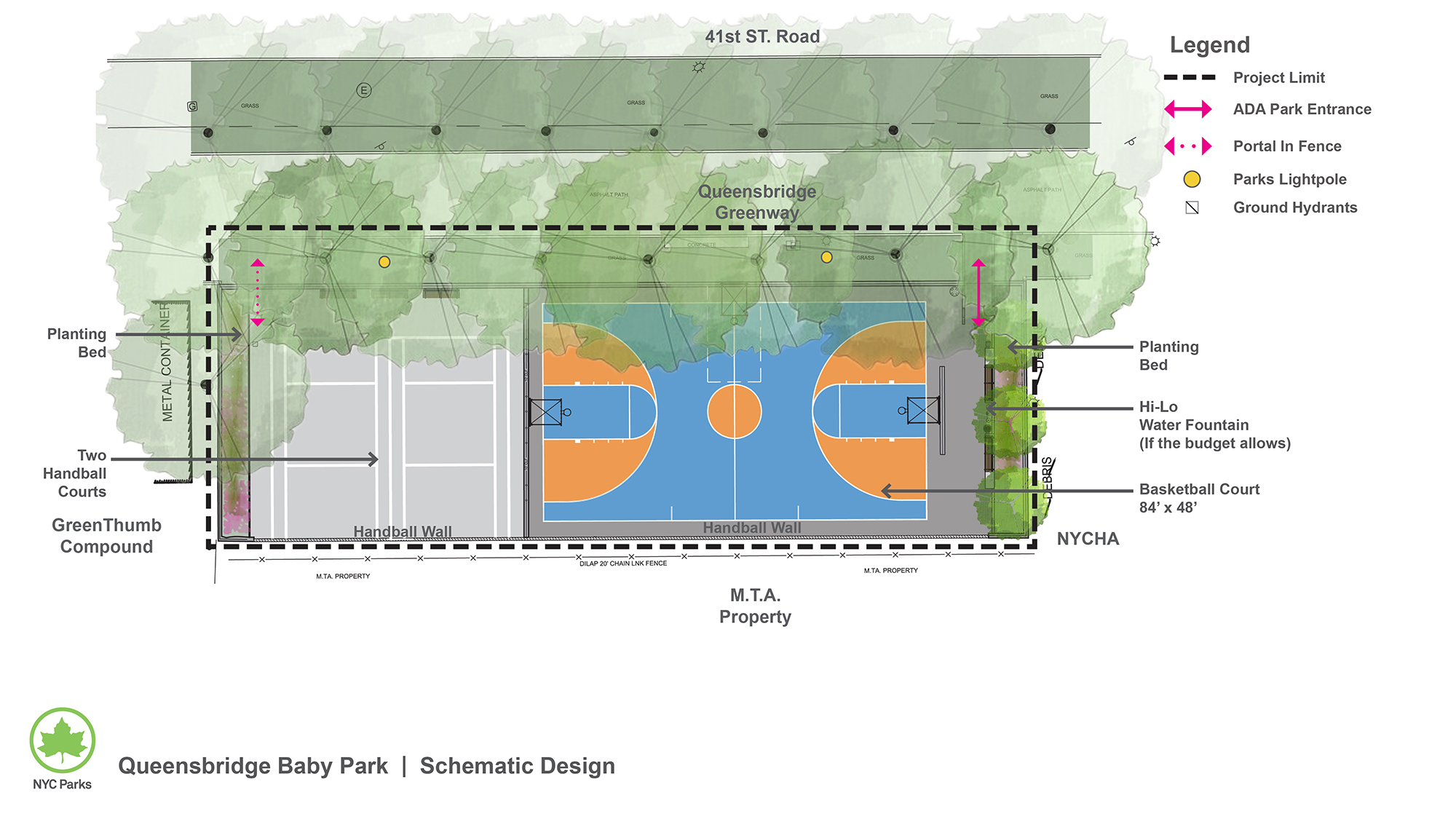 Design of Queensbridge Baby Park Handball Courts Reconstruction