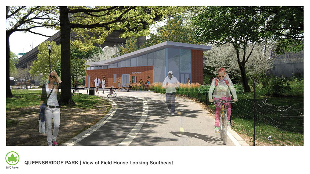 Design of Queensbridge Park Field House Construction