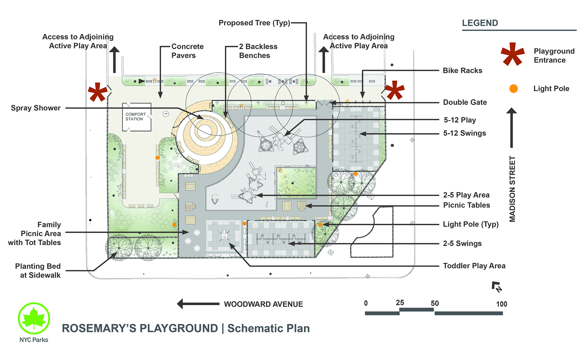 Design of Ridgewood Park Rosemary's Playground Reconstruction