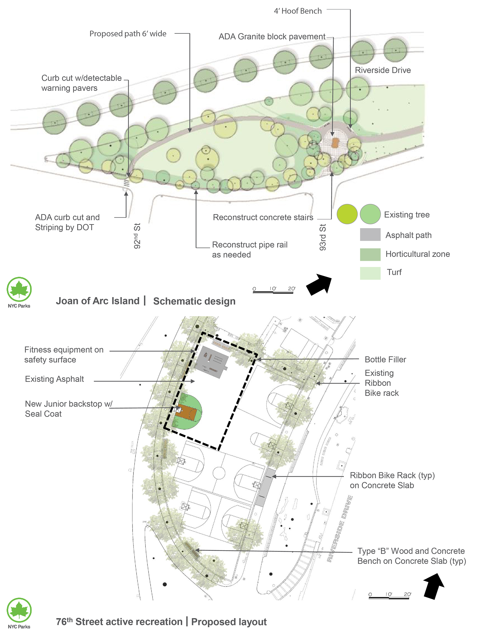 Design of Joan of Arc Park Reconstruction and Riverside Park Adult Fitness Equipment Installation