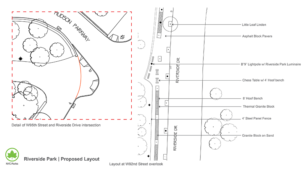 Design of Riverside Park Path Reconstruction, West 72-83, 91-95, 122-125 Streets