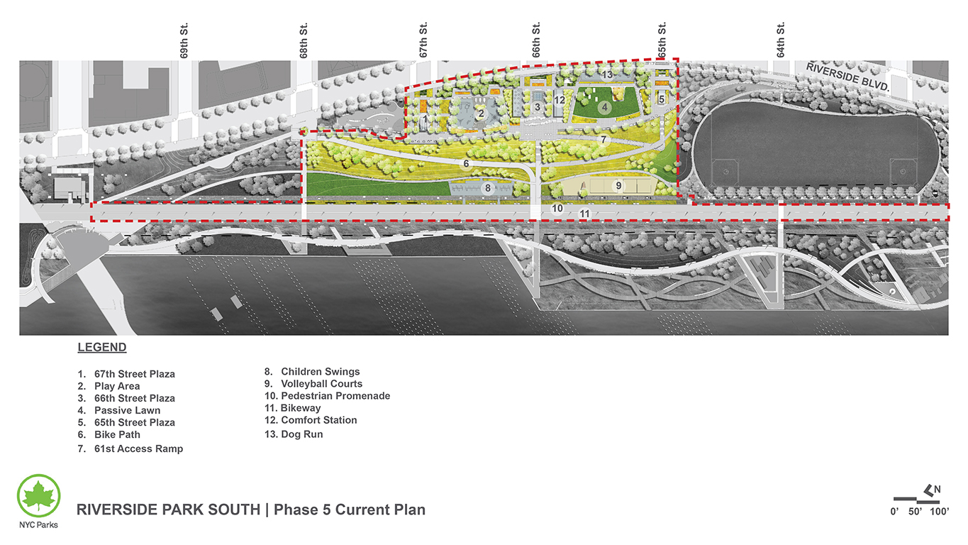 Design of Riverside Park South Playground, Bikeway, and Site Work Construction