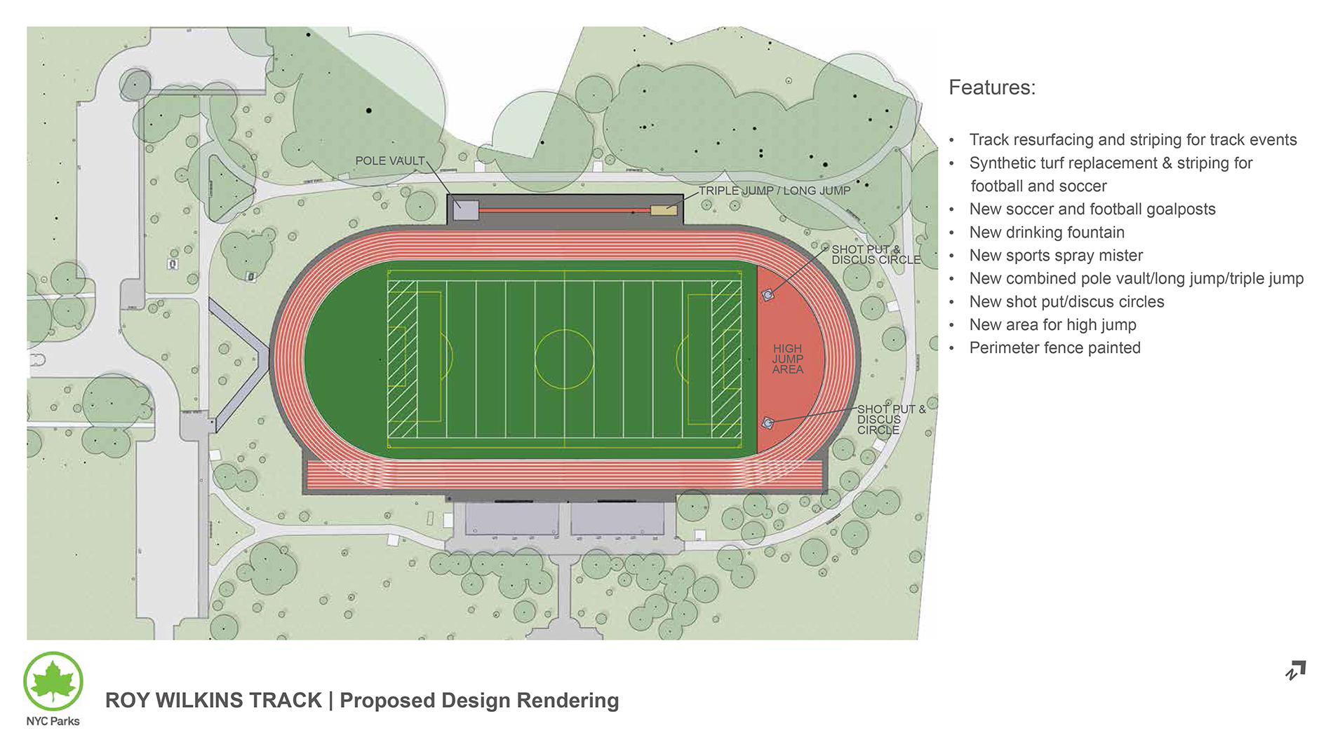 Design of Roy Wilkins Park Track and Field Reconstruction