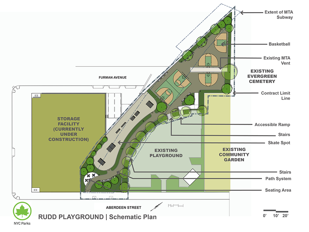 Design of Rudd Playground Skate Park and Basketball Courts Reconstruction