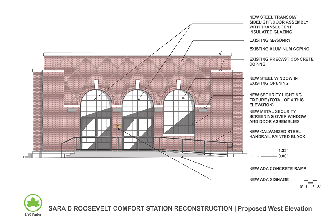 Design of Sara D. Roosevelt Park Comfort Station Reconstruction