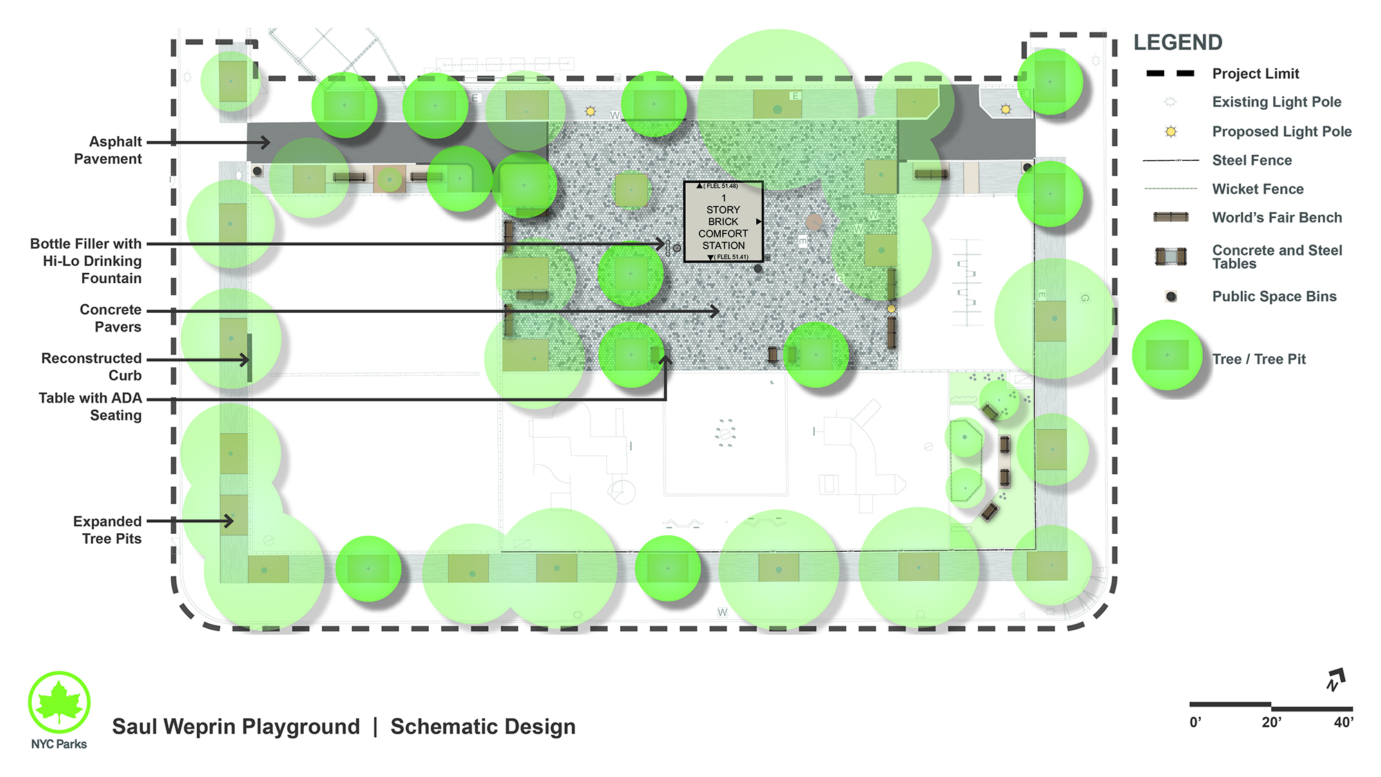 Design of Saul Weprin Playground Plaza Reconstruction