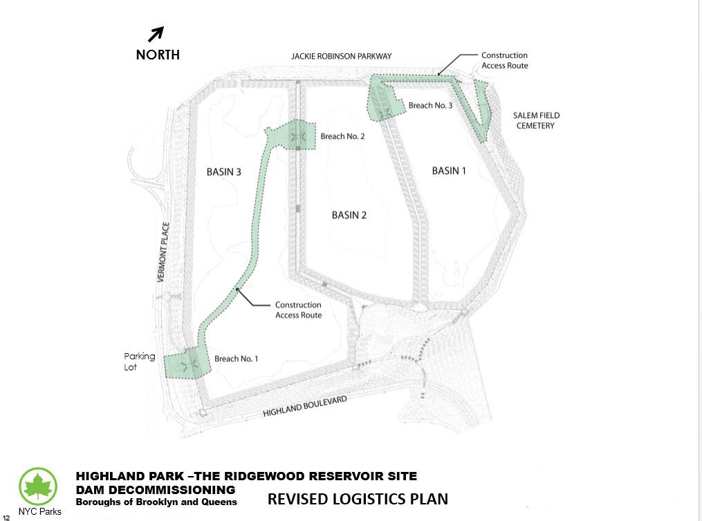 Design of Highland Park Ridgewood Reservoir Dam Decommissioning