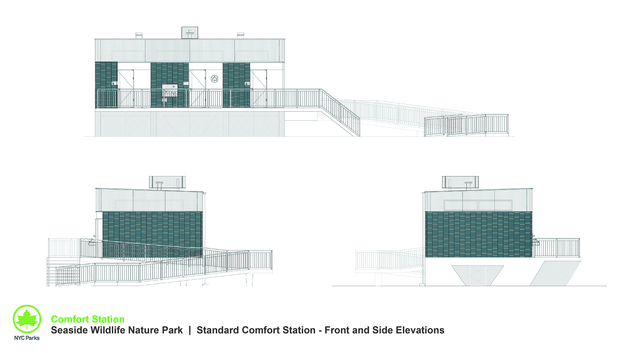 Design of Seaside Wildlife Nature Park Comfort Station Construction