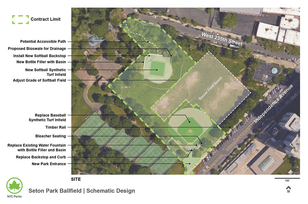 Design of Seton Park Ballfields Reconstruction