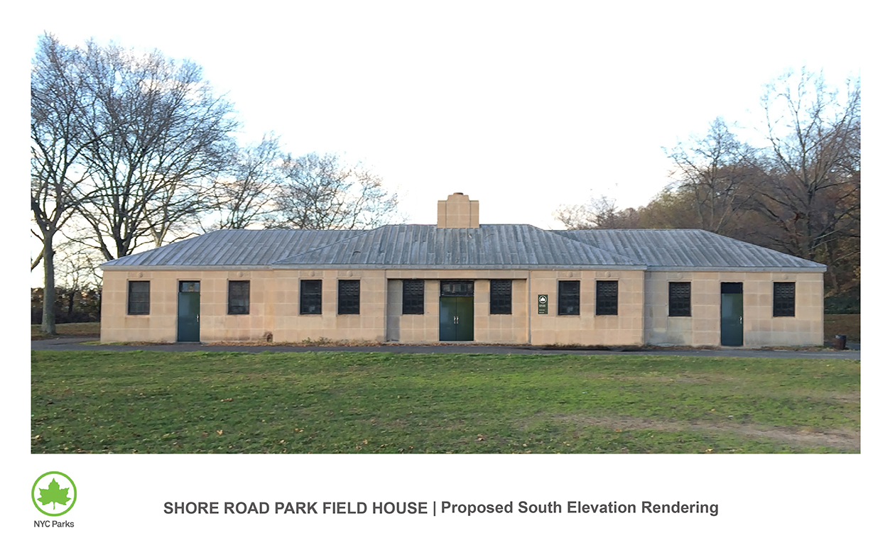Design of Shore Road Park Field House Reconstruction