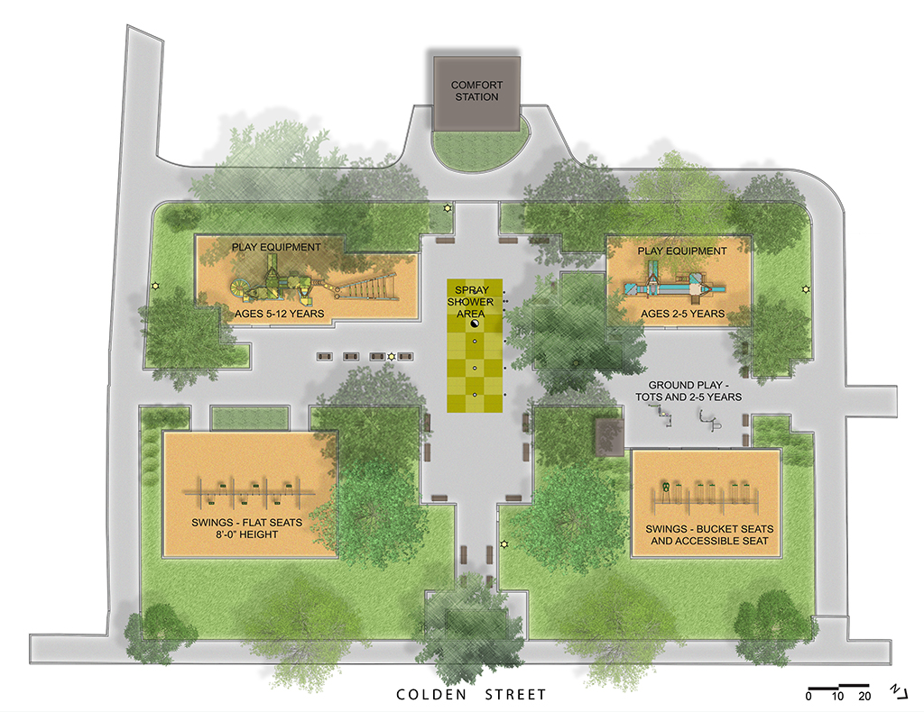Design of Silent Spring Playground Reconstruction