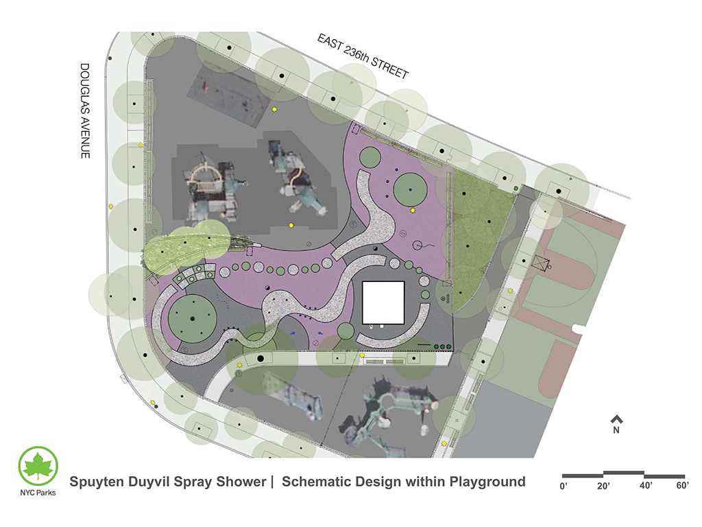 Design of Spuyten Duyvil Playground Spray Shower Reconstruction