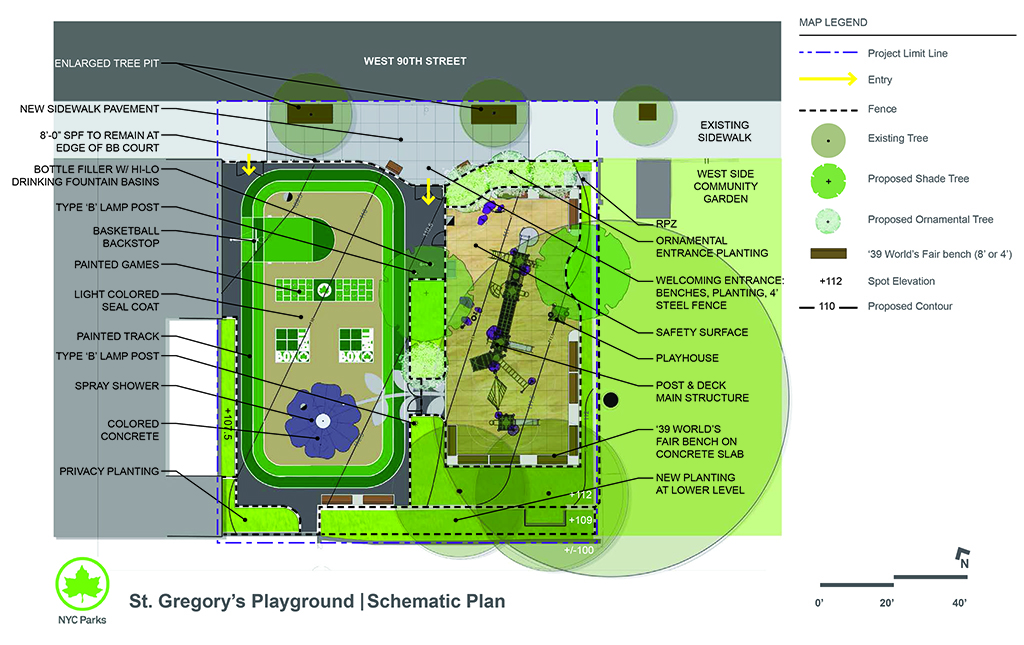 Design of St. Gregory's Park Reconstruction