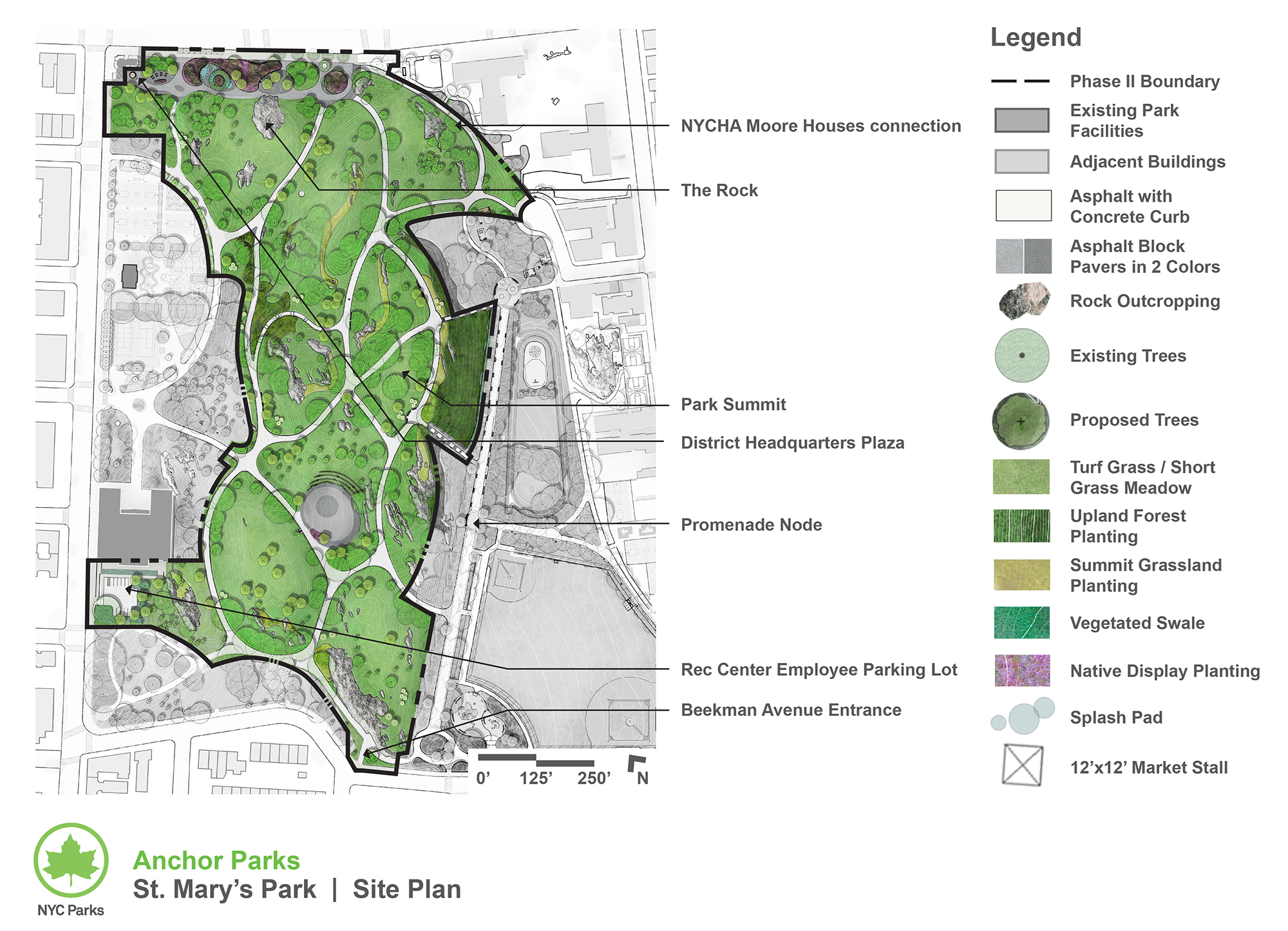 Design of St. Mary's Park Amphitheater, Plaza, and Pathways Reconstruction
