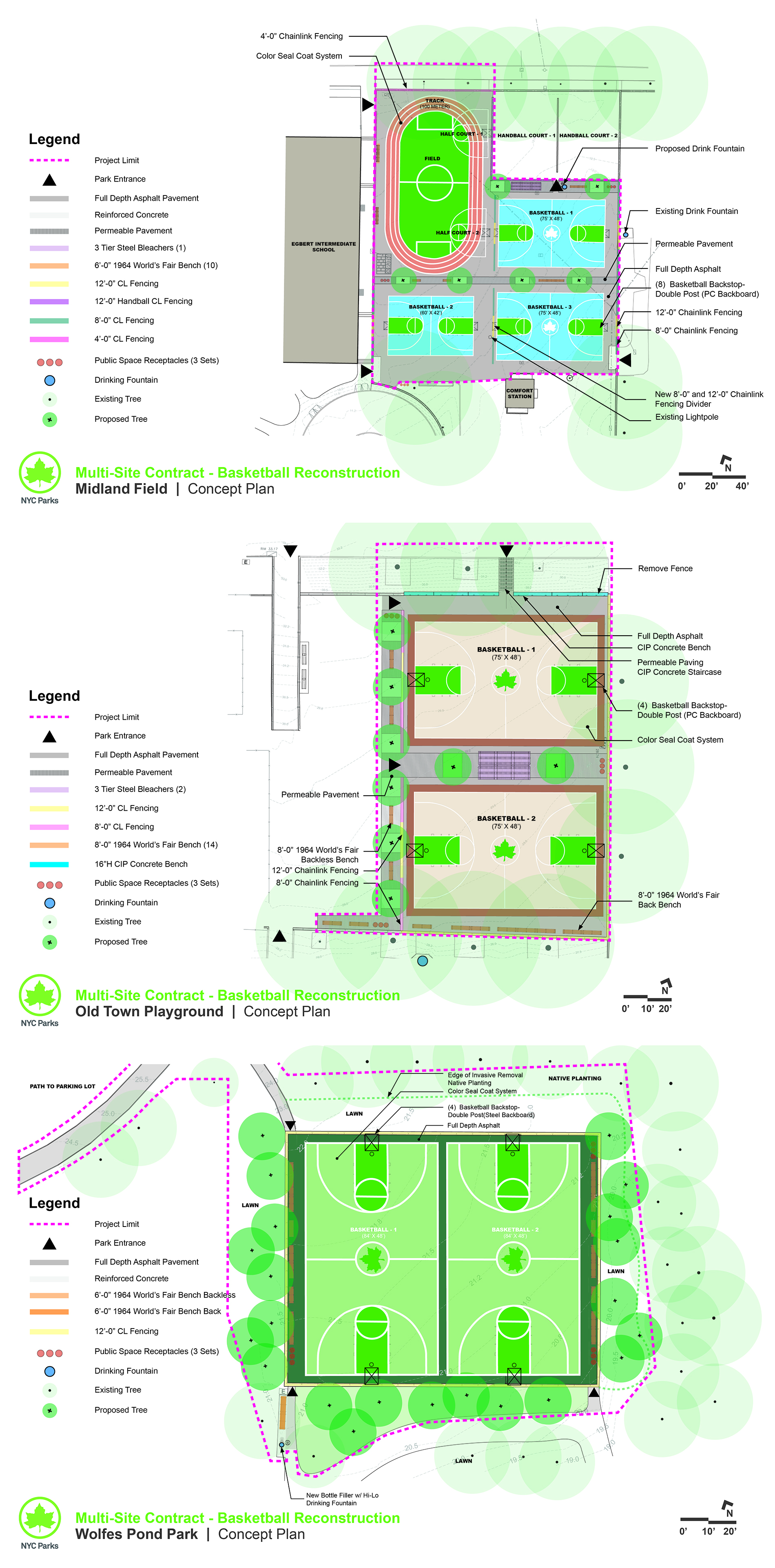 Design of Staten Island Basketball Court Reconstruction