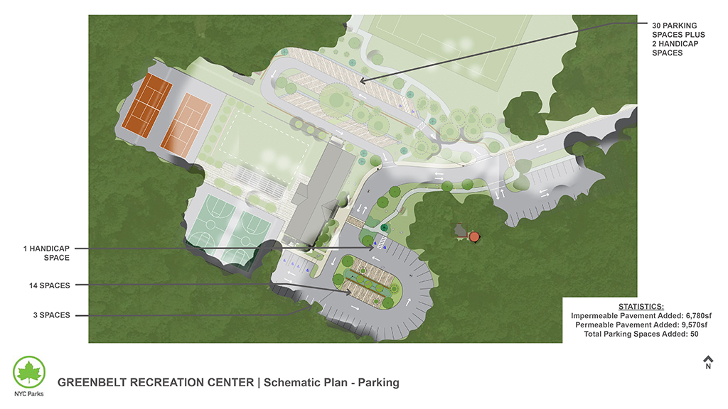 Design of Staten Island Greenbelt Recreation Center Parking Area Expansion