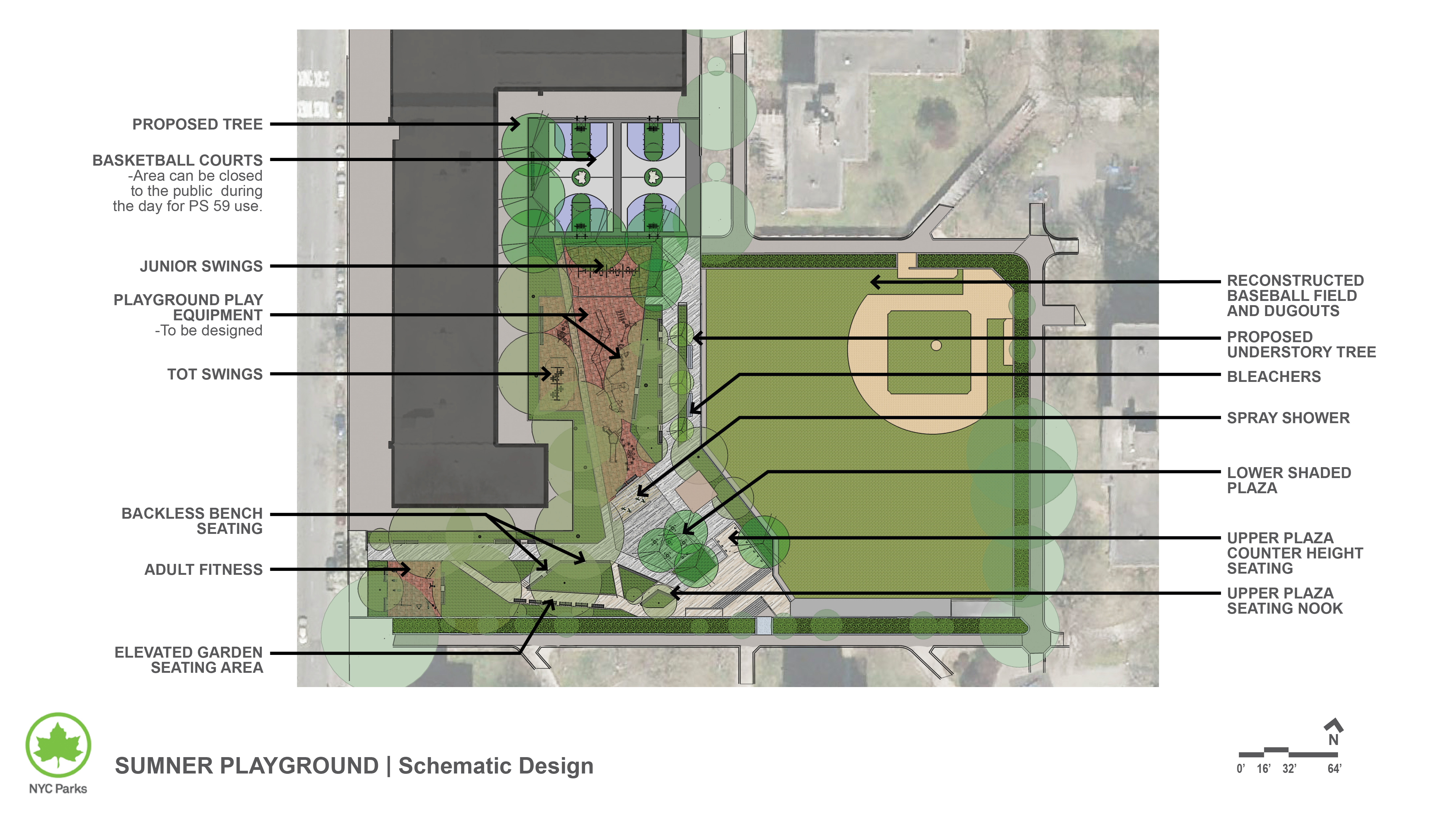 Design of Sumner Playground Ballfield and Athletic Court Reconstruction