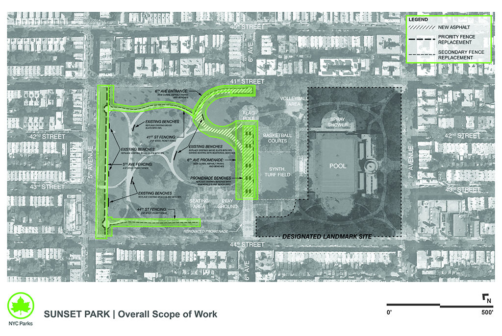 Design of Sunset Park Pavement, Fencing, and Bench Reconstruction
