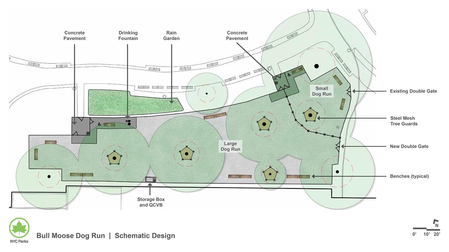 Design of Theodore Roosevelt Park Dog Run Reconstruction