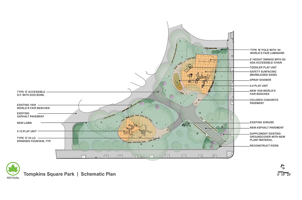 Design of Tompkins Square Playground Reconstruction