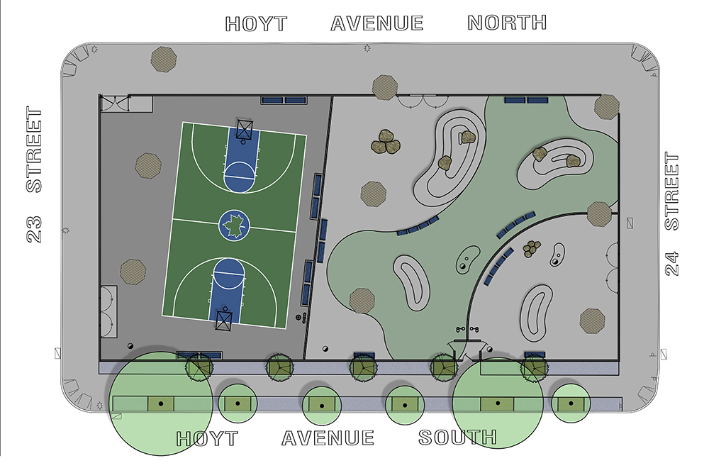 Design of Triborough C Dog Run and Basketball Court Reconstruction