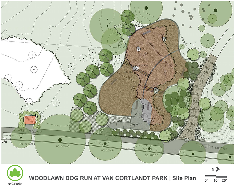 Design of Van Cortlandt Park Dog Run Construction