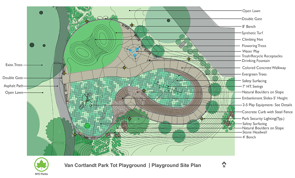Design of Van Cortlandt Park Playground Construction