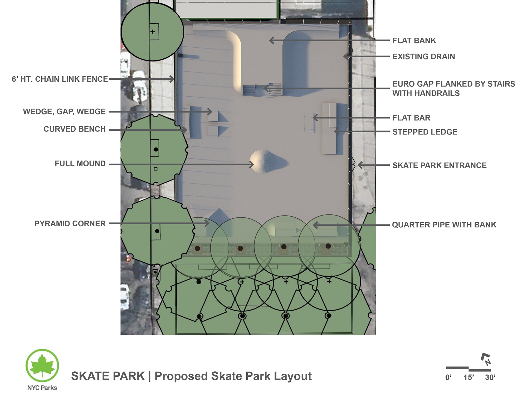 Design of Van Cortlandt Park Skate Park Construction