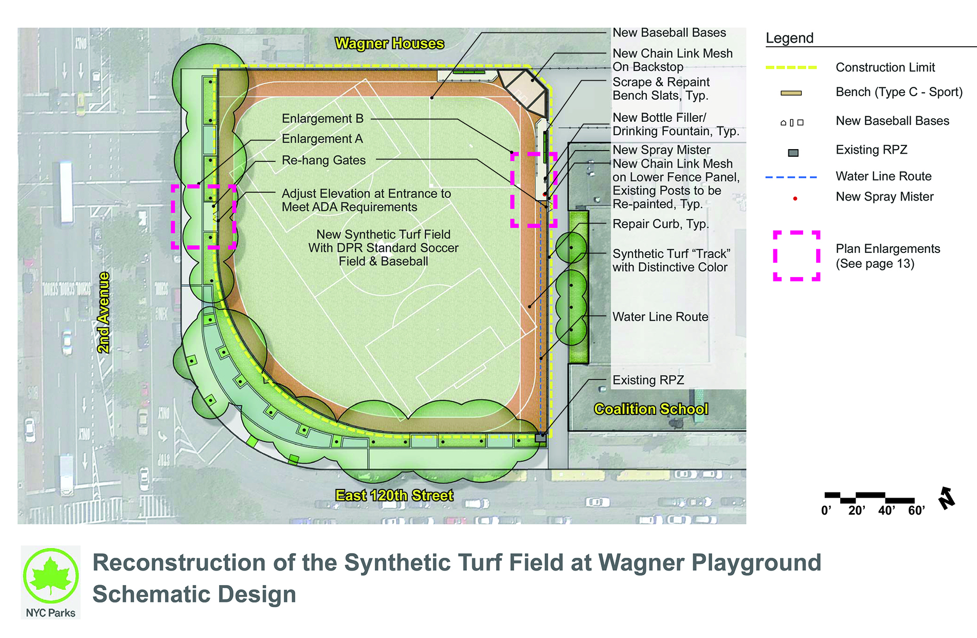 Design of Wagner Playground Synthetic Turf Reconstruction