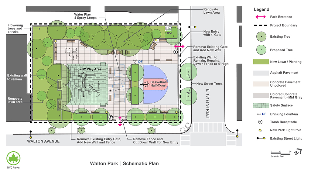 Design of Walton Park Reconstruction