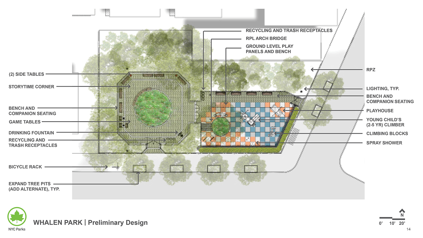 Design of Whalen Park Reconstruction