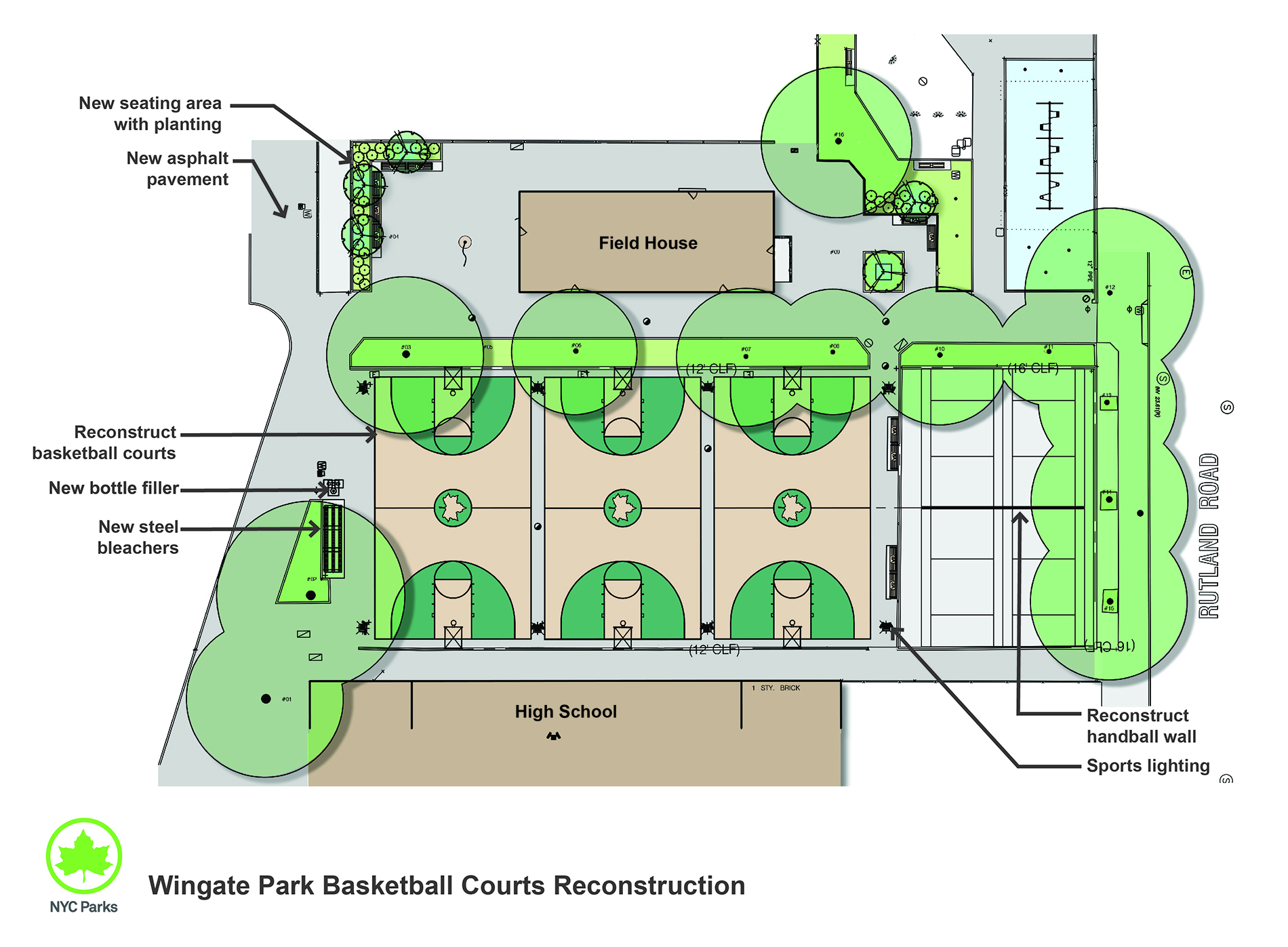 Design of Wingate Park Basketball Courts Reconstruction